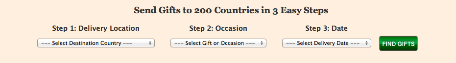 Send Gifts to 200 Countries in 3 Easy Steps