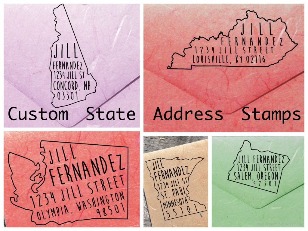 Custom State Address Stamps Realtor Closing Gifts & Housewarming Gifts