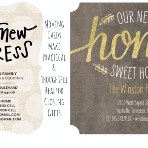 Moving Cards Make Practical and Thoughtful Realtor Closing Gifts