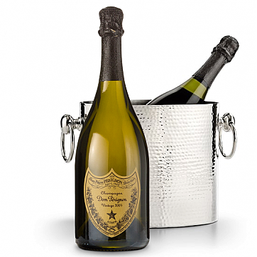 Luxury Wine Chiller with Dom Perigean 2004, Realtor Closing Gift Ideas Over $100.00