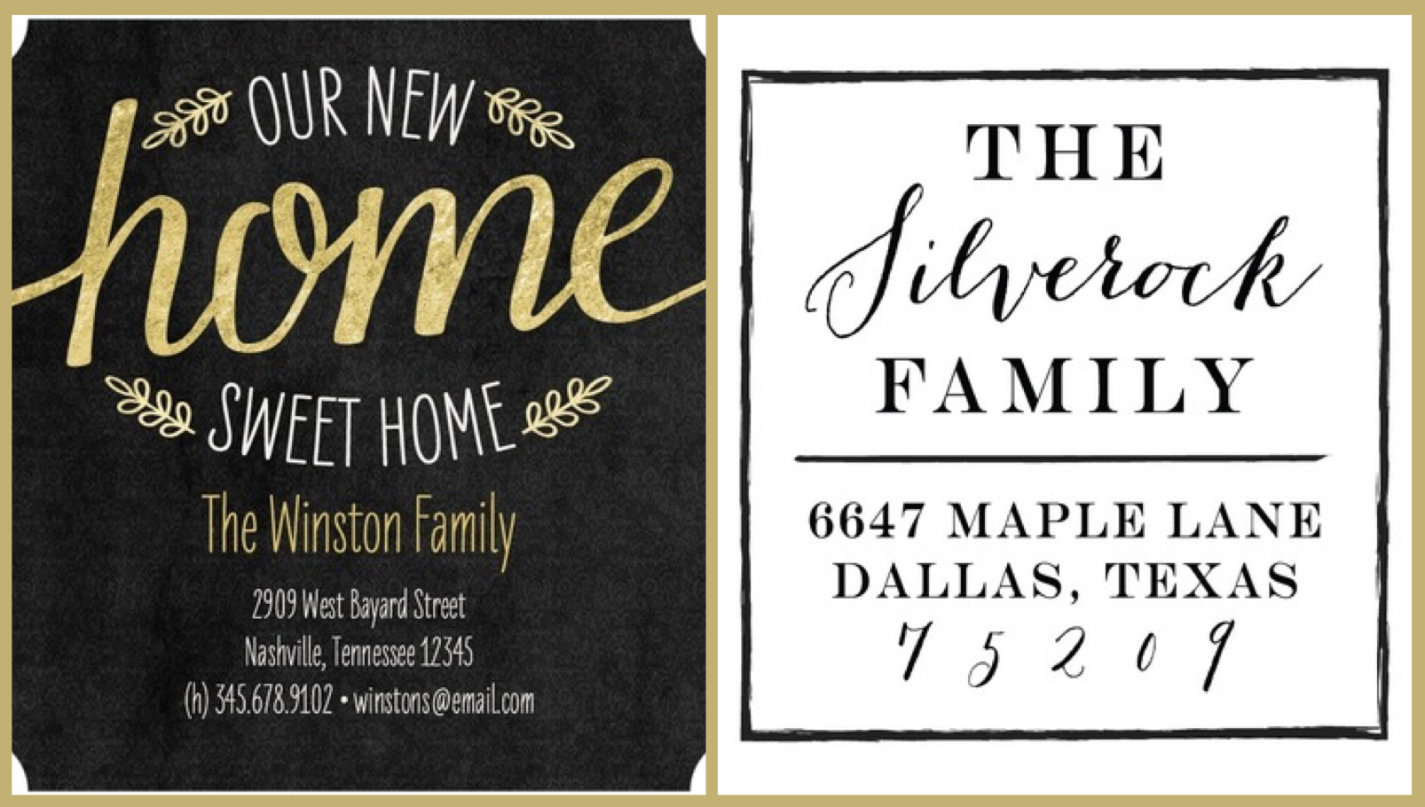 Moving Cards & Address Stamps are Great Realtor Closing Gifts