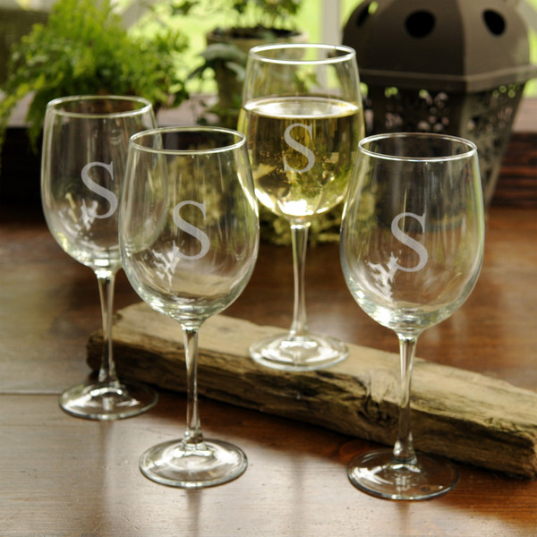 Personalized Stemmed Wine Glasses, Personalized Wine Accessories