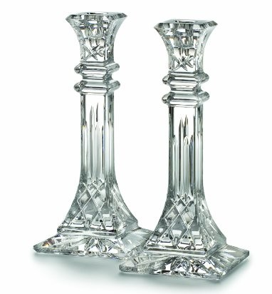Waterford Lismore Candlesticks, Realtor Closing Gift Ideas Over $100.00