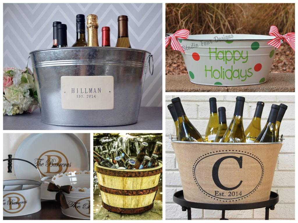 Beverage Tubs Holiday Entertaining Housewarming Realtor Gifts