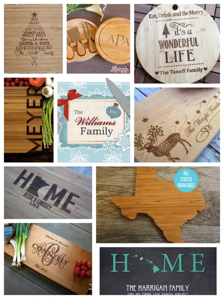 Holiday Cutting Boards Realtor Housewarming Gifts