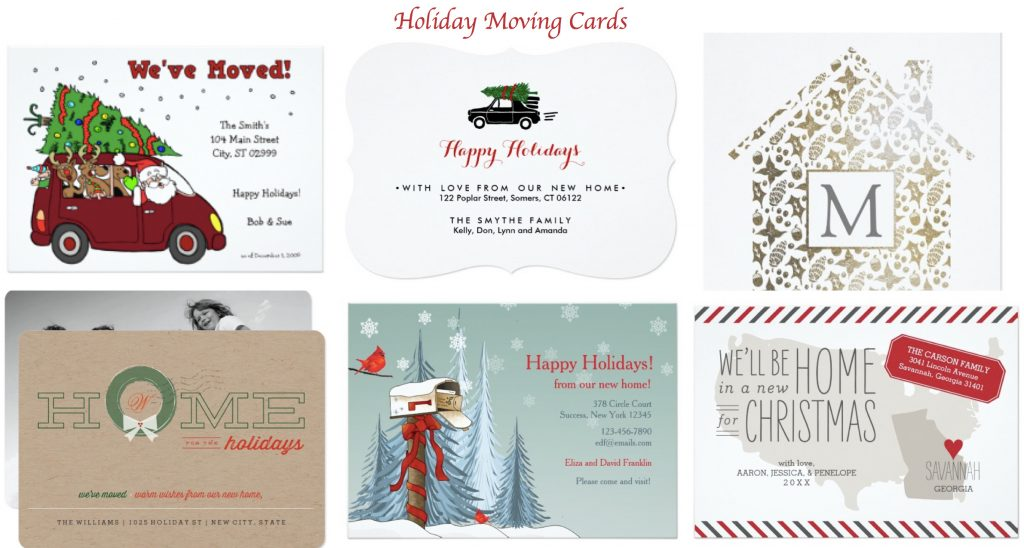 Holiday Moving Cards