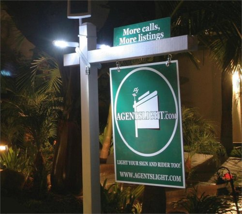 Solar Real Estate Sign Light