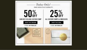 Custom Stamps and Embosser Sale