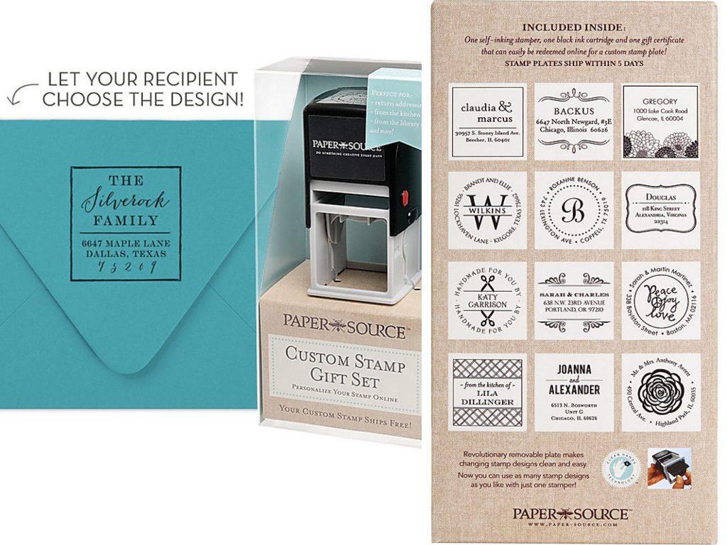 Custom Address Stamp Gift Box