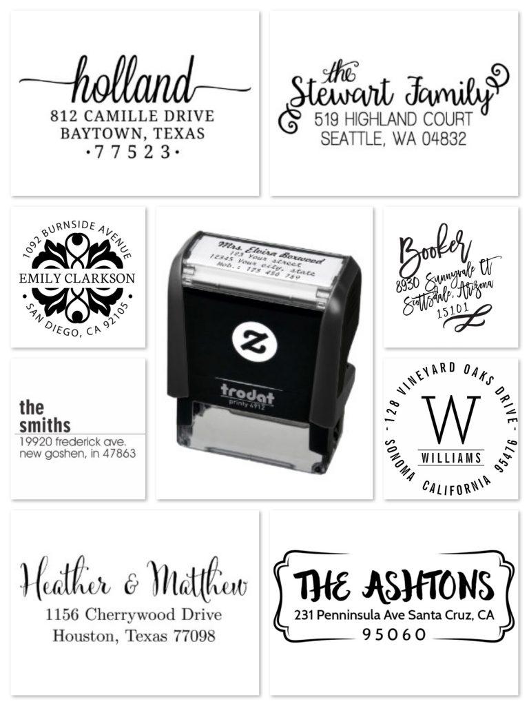 Zazzle Self-Inking Address Stamps