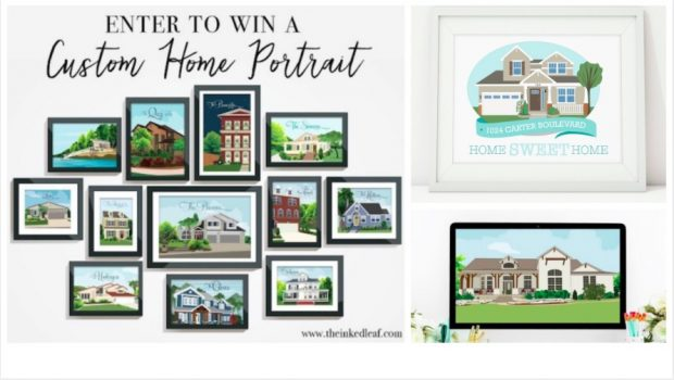 Custom House Portrait Giveaway