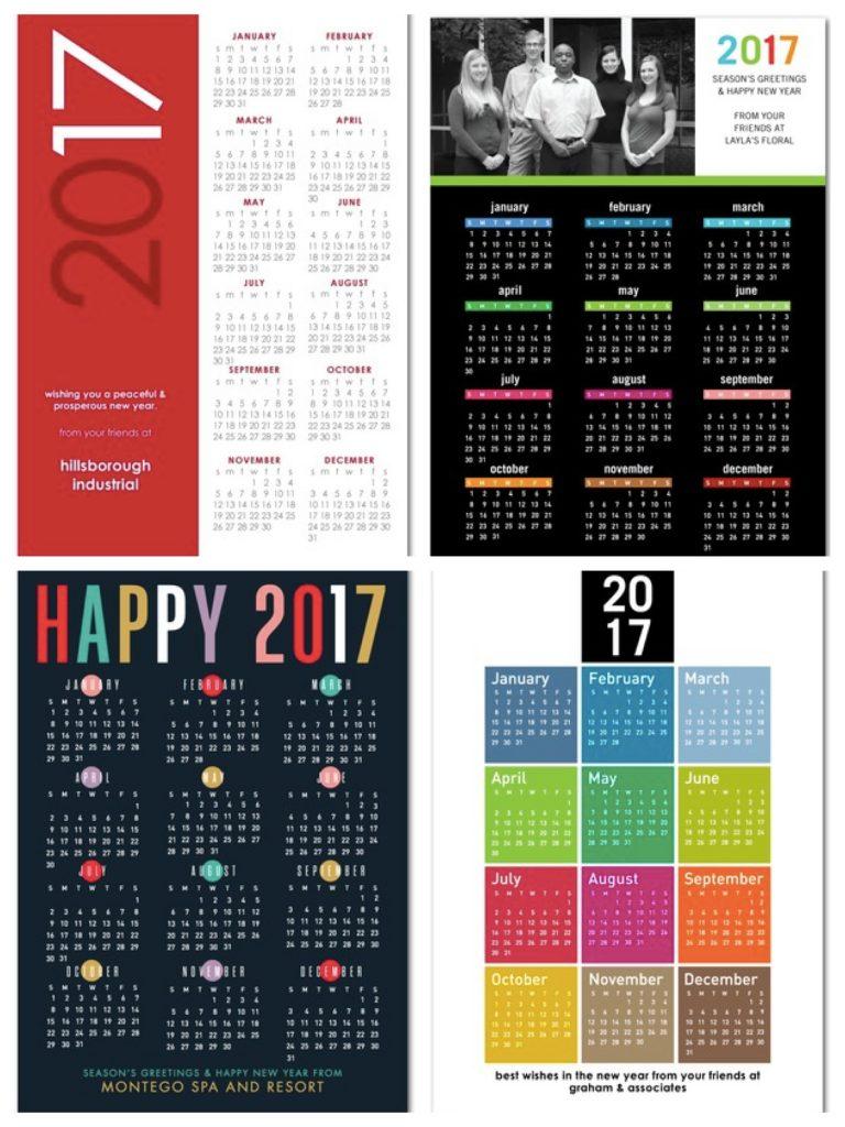 Calendar Business Holiday Cards