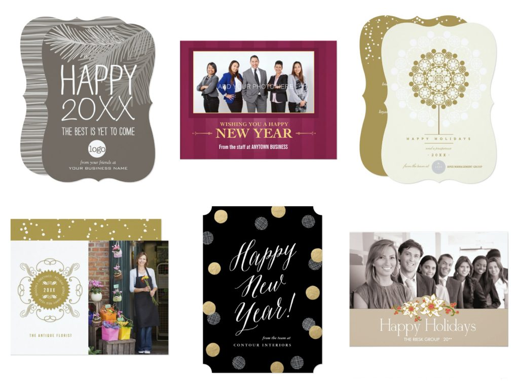 Zazzle Business New Year Cards