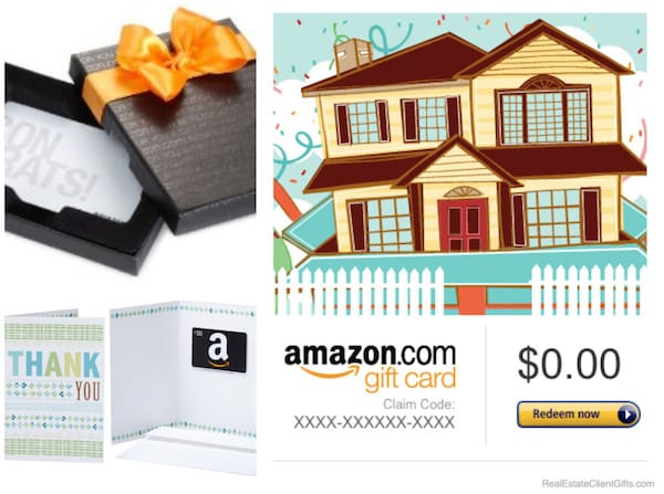 Amazon Gift Cards Housewarming Realtor Gifts