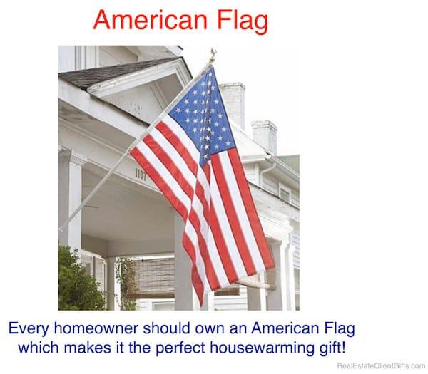 American Flag Realtor Client Housewarming Thank You Gift