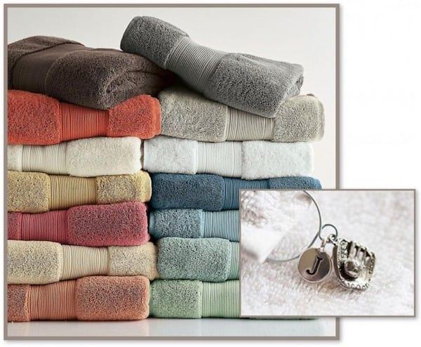 Bath Towels and Towel Charms Realtor Housewarming Gift