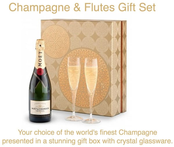 Champagne Flutes Gift Set Realtor Housewarming Thank You Gift