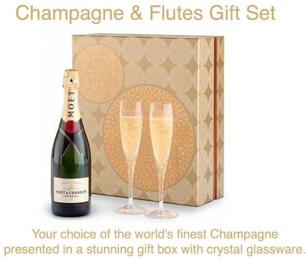 Champagne Flutes Gift Set Realtor Housewarming Thank You Gift