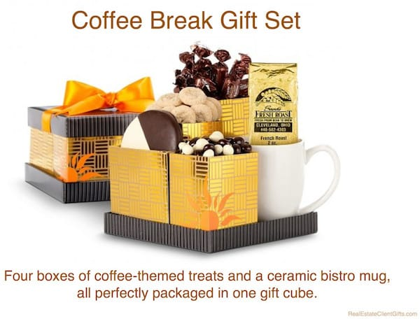 Coffee Break Gift Set Realtor Closing Gift and Housewarming Present