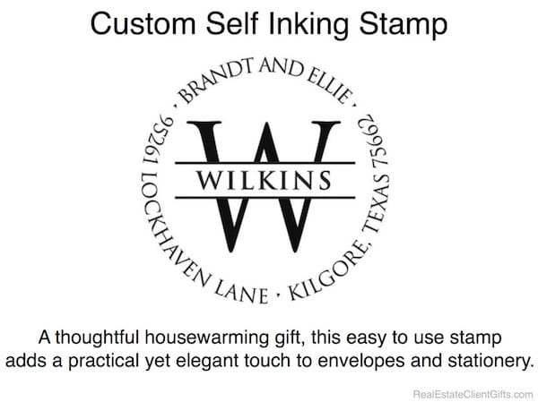 Custom Self Inking Stamp Realtor Housewarming Thank You Gift