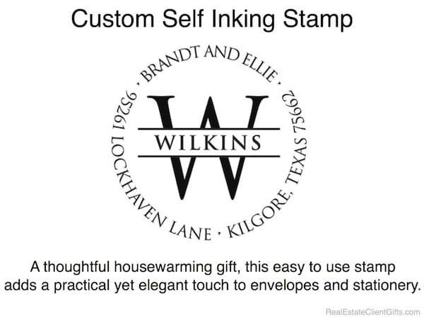 Custom Self Inking Stamp Realtor Housewarming Thank You Gift