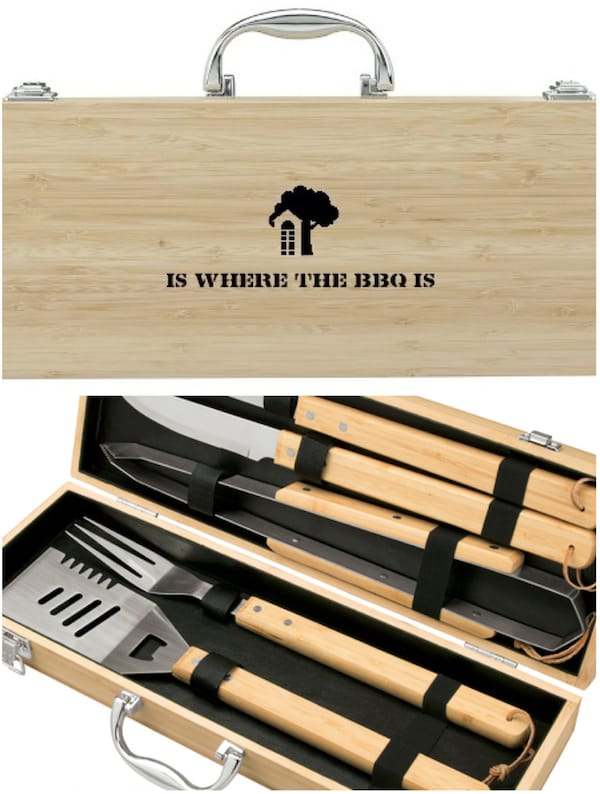 Home is Where the BBQ Is 5 Piece Bamboo BBQ Set