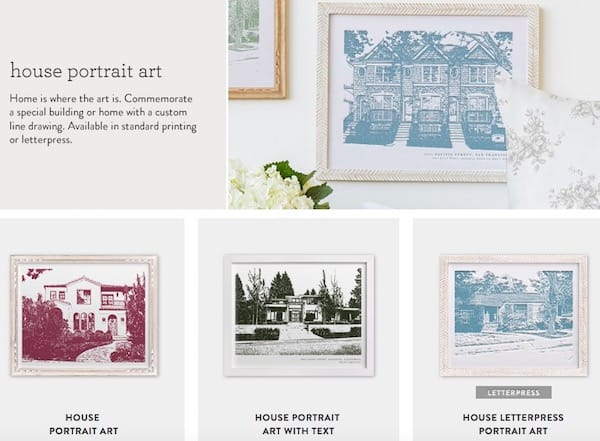 House Portrait Art Realtor Closing Housewarming Gifts