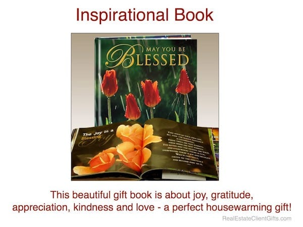 Inspirational Book May You Be Blessed Realtor Housewarming Thank You Closing Gift