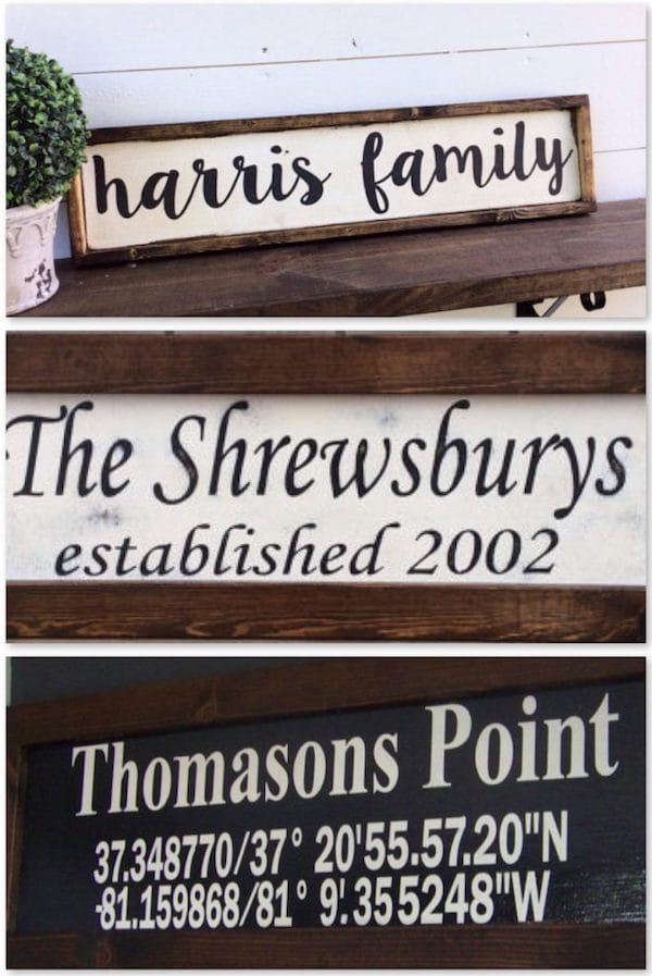 Personalized Family Rustic Signs Realtor Closing Housewarming Gift