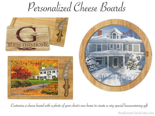 Personalized Cheese Board Housewarming Gift