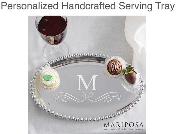 Personalized Serving Tray Realtor Housewarming Thank You Gift