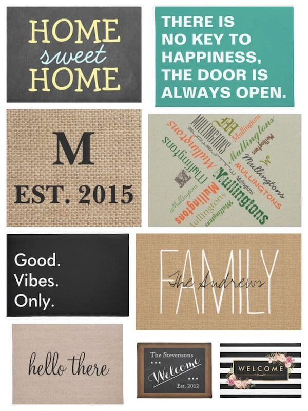 real estate client closing housewarming gifts welcome mats