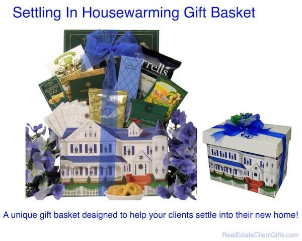 Realtor Housewarming Client Thank You Gift Basket