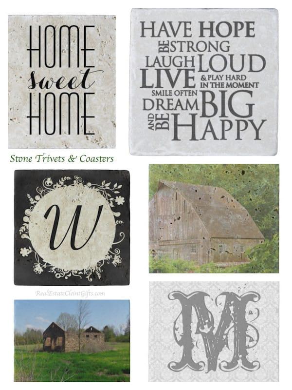 Stone Trivets Coasters Realtor Closing Housewarming Gifts