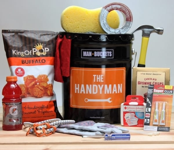 Handyman Man Bucket Realtor Closing Housewarming Gift
