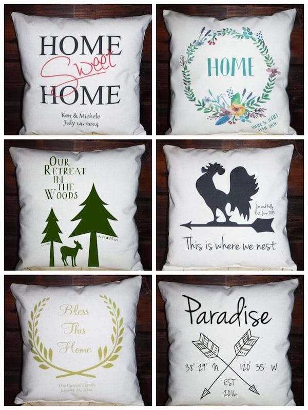 Welcome Pillows Realtor Closing Gifts and Housewarming Presents