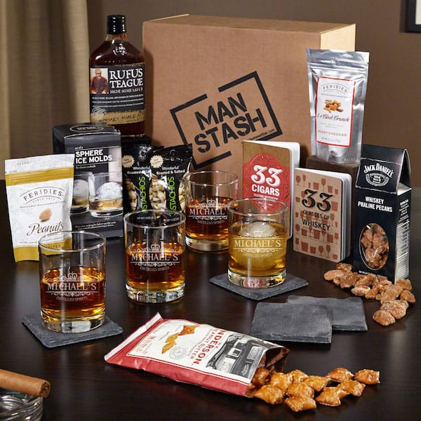 Whiskey Lover Deluxe Man Stash Gift Boxed Set