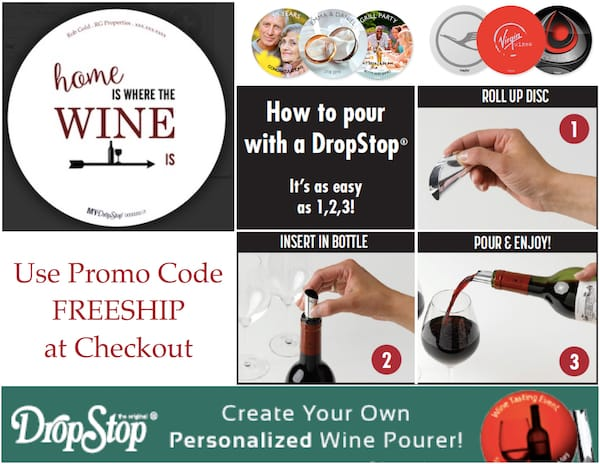 MYDropStop Personalized Wine Pourer Housewarming Gift