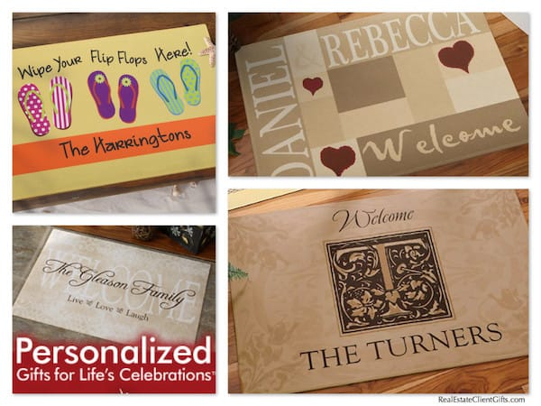 Personalized Welcome Doormat Realtor Housewarming Present