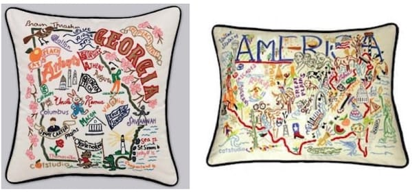 Decorative State and Destintaion Pillows