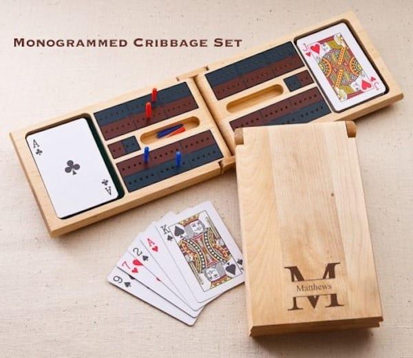 Monogrammed Cribbage Set