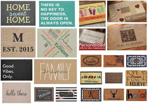 Personalized Welcome Doormats, Fabulous & Meaningful Realtor Closing Gifts