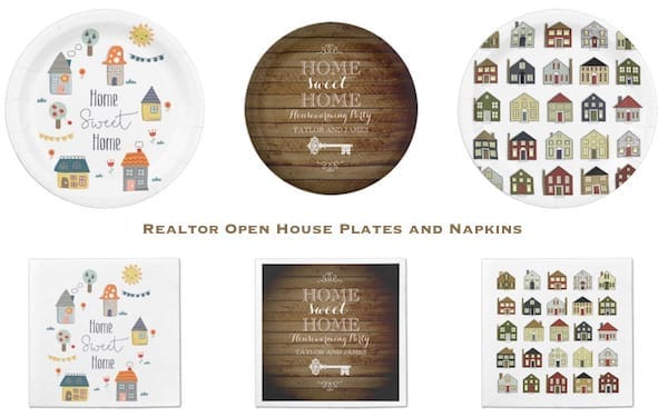 Realtor Open House Plate and Napkins