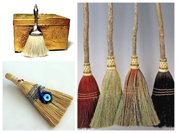Vintage and Handmade Brooms, Fabulous & Meaningful Realtor Closing Gifts