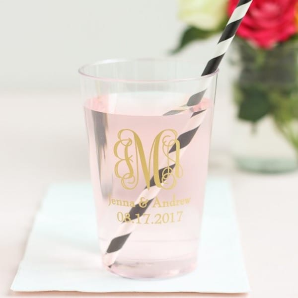 Personalized Clear Plastic Cups Housewarming Gifts for Her