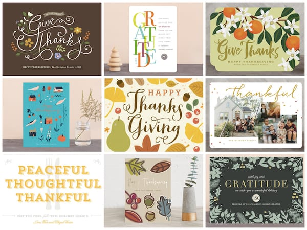 Minted Thanksgiving Greeting Cards