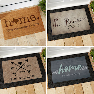 Real estate closing gifts door mats