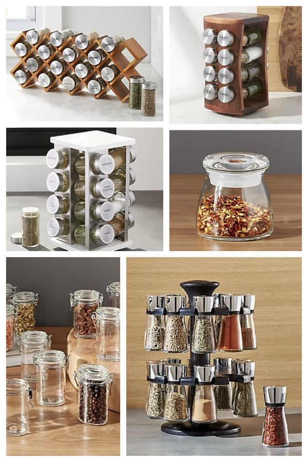 Spice Racks and Spice Jars