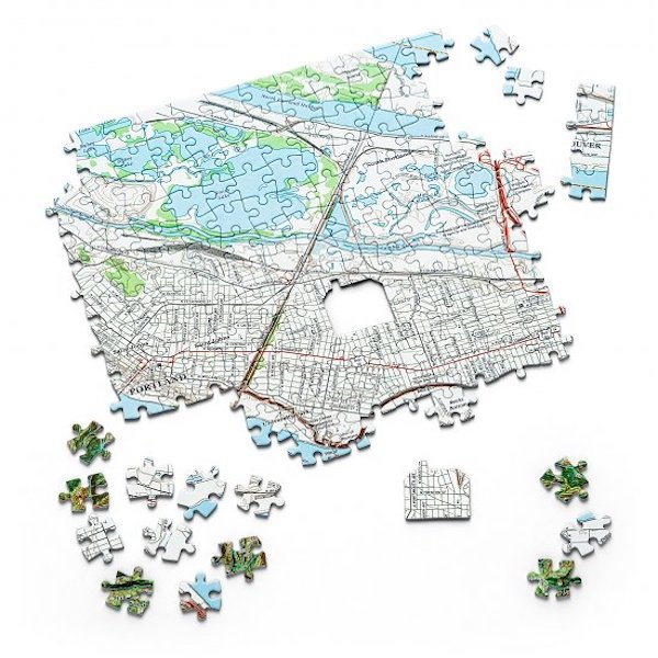 Home is Where the Heart Is Map Puzzle Closing Gift