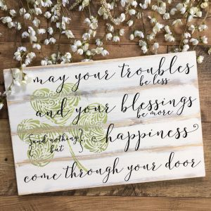 Irish Blessing Wood Sign Closing Gift